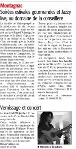 Article dans Midi Libre du 11 Juillet 2015